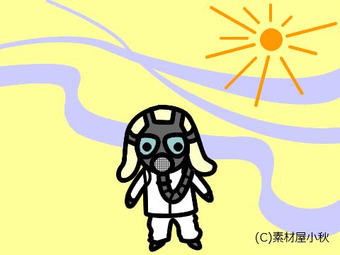 今日は何の日のイラスト(7月18日:光化学スモッグの日)