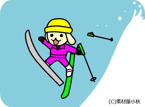 今日は何の日のイラスト(1月12日:スキー記念日)