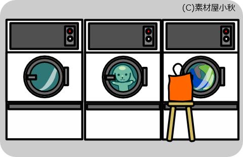今日は何の日のイラスト(1月28日:衣類乾燥機の日)