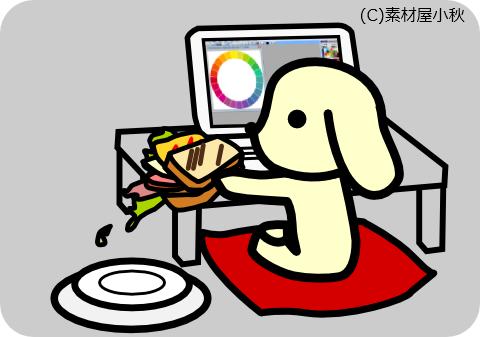 今日は何の日のイラスト(3月13日:サンドイッチデー)