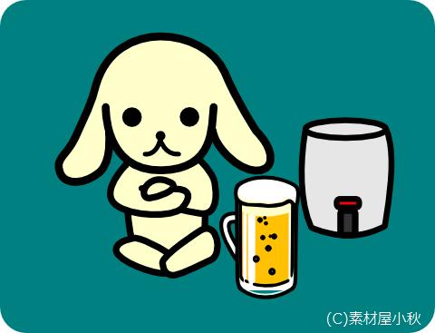 今日は何の日のイラスト(4月23日:地ビールの日)