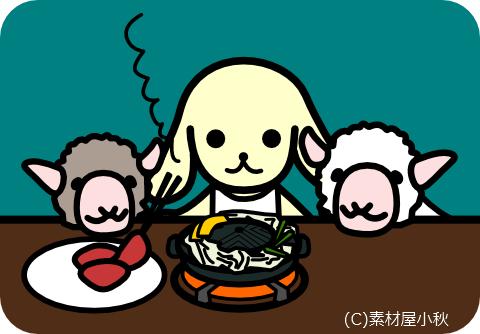 今日は何の日のイラスト(4月29日:羊肉の日)